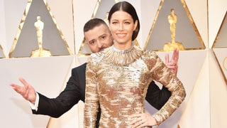 Justin Timberlake Adorably Photobombs Jessica Biel at the 2017 Oscars
