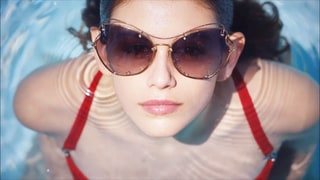 Kaia Gerber Stars in Miu Miu's Summer Eyewear Campaign, Looks Just Like Her Mom