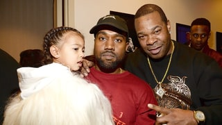 North West, Kanye West and Busta Rhymes