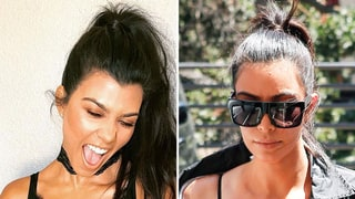 Kourtney Kardashian Steals Kim K.'s Lacy Slip Dress Look: Who Wore It Best?