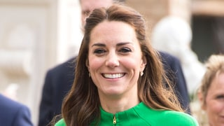 Kate Middleton Appropriately Wears a Bright Green Coat for Flower Show