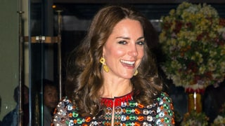Kate Middleton Dazzles in Kaleidoscopic Fitted Gown
