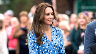 Duchess Kate Middleton Takes a Walk on the Sultry Side With Thigh-High Slit