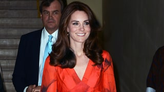 Kate Middleton Goes Glam in Poppy Gown After Rigorous Hike