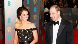 Duchess Kate Stuns in Off-the-Shoulder Dress at the BAFTA Awards
