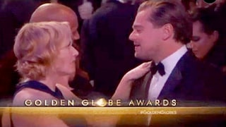 Leonardo DiCaprio and Kate Winslet Reunite at 2016 Golden Globes: Watch Their Sweet Hug!
