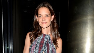 Katie Holmes Spices Up Her Classic Style With a Backless Romper