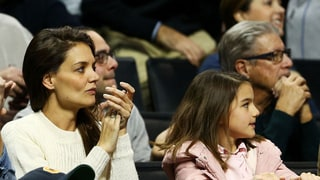 Katie Holmes Takes Suri Cruise to Notre Dame March Madness Game: Photo