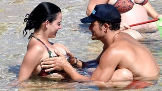 Orlando Bloom (Almost but Not Quite Naked) Grabs Katy Perry's Boobs During PDA-Filled Beach Vacation