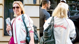 Kelly Ripa Wears 'Freedom' Jacket Ahead of Michael Strahan's Last Day on 'Live'