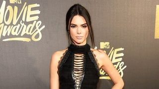 Kendall Jenner Wears Wild Thigh-High Lace-Up Heels at MTV Movie Awards 2016