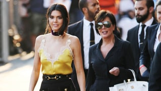Kendall Jenner Wears Lingerie-Inspired Silk Cami for 'Kimmel' Appearance