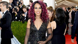 Pregnant Kerry Washington Cradles Baby Bump, Sports Purple Hair on Met Gala 2016 Red Carpet: See the Photos