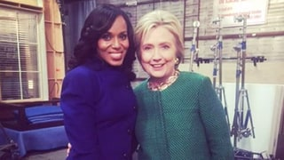 Hillary Clinton Visits the Scandal Set, Kerry Washington and More Stars Freak Out: Photos!