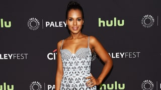 Kerry Washington Smolders in an Embroidered Bustier Dress on the Red Carpet