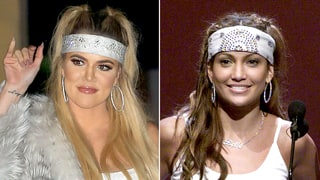 Khloe Kardashian Channels Jennifer Lopez's 2000 VMAs Look With New Pigtail Hairstyle