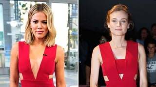 Khloe Kardashian Wears Same Red Cutout Jumpsuit as Diane Kruger: Who Wore It Best?