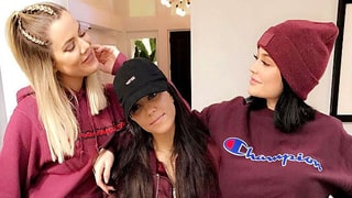 Khloe Kardashian, Kourtney Kardashian and Kylie Jenner Are 'Burgundy Bitches' in Matching Outfits