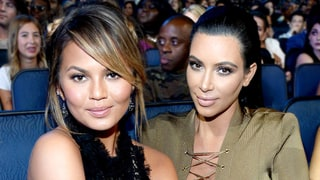 'Auntie' Kim Kardashian and Kanye West Meet Chrissy Teigen and John Legend's Daughter, Luna