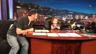 Jimmy Kimmel Gets Replaced, Brings Daughter Jane to Work