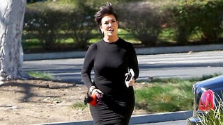 These Photos of Kris Jenner Running in Strappy Heels Will Make Your Day