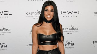 Kourtney Kardashian Shows Off Toned Abs and Legs in Shorts and Crop Top in Vegas