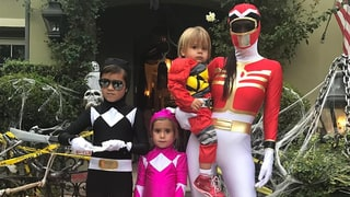 Mason Disick, Penelope Disick, Reign Disick and Kourtney Kardashian, Power Rangers
