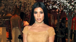 Kourtney Kardashian Channels Pocahontas in a Nude Suede Outfit