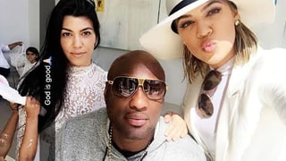 Khloe Kardashian and Lamar Odom Attend Church With Family on Easter Sunday