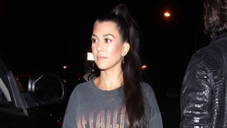Kourtney Kardashian Forgets Pants, Remembers Thigh-High Velvet Boots for Kanye West Show