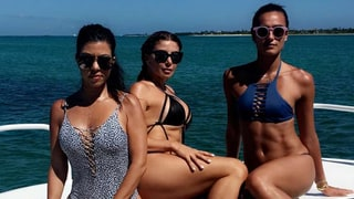 Kourtney Kardashian Does Lunges In a Bikini, Swims With Pigs In the Bahamas — See the Amazing Vacay Pics