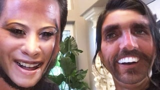 Kourtney Kardashian, Scott Disick Face Swap and It's a Hilariously Terrifying Mix of Bronzer, Facial Hair and Lip Gloss