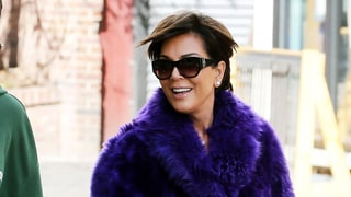 Kris Jenner Stays Warm in a Massive Purple Fur Coat During Colorado Ski Trip