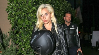Lady Gaga and Bradley Cooper Head to Dinner Together on His Motorcycle: Photos