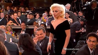 Lady Gaga Bumps Into Leonardo DiCaprio at Golden Globes 2016: See His Hilarious Reaction!