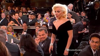 Leonardo DiCaprio Jokes About Viral Lady Gaga Golden Globes Reaction: It Was 'Funny'