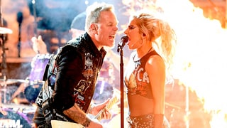Lady Gaga Goes Heavy Metal for Metallica Duet at Grammys 2017 as James Hetfield Powers Through Mic Issues