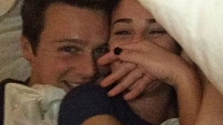 Lea Michele Shares Adorable Selfie in Bed With Glee's Jonathan Groff: 'Suddenly All Is Right'