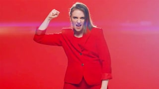 Lena Dunham Raps About Hillary Clinton's Sensual Pantsuit in Funny or Die Video — Watch