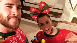 Miley Cyrus Celebrates Christmas With Liam and Chris Hemsworth
