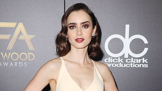 Lily Collins Goes for the Bold With the Perfect Oxblood Smoky Eye