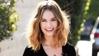 Lily James' Velvet Jumpsuit Is the Best Onesie Since the Snuggie: Shop It Here!