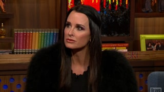 Kyle Richards Discusses Lisa Rinna on 'WWHL': 'She Talks Too Much'
