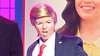 Amber Tamblyn Becomes Donald Trump in Hilarious 'Lip Sync Battle' Performance With America Ferrera