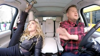 Madonna Vogues, Twerks, Talks Kissing Michael Jackson in Carpool Karaoke With James Corden