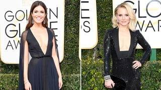 2017 Golden Globes Red Carpet: Mandy Moore and Kristen Bell Wear Plunging Necklines