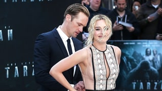 Alexander Skarsgard Fixes Margot Robbie's Wardrobe Malfunction on the Red Carpet