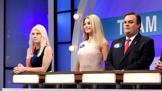 Margot Robbie Perfectly Spoofs Ivanka Trump on Saturday Night Live's 'Celebrity Family Feud'