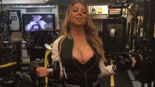 Mariah Carey Works Out Wearing Fishnets and Stiletto Heels at the Gym