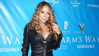 Mariah Carey's Lacy Bra Upstages Her Head-to-Toe Leather Ensemble